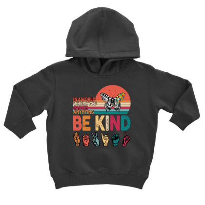Autism Awareness Be Kind Toddler Hoodie Designed By Badaudesign