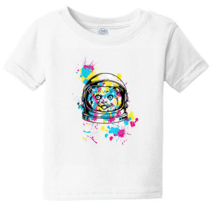 Astronaut Cat Baby Tee Designed By Chiks