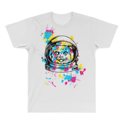 Astronaut Cat All Over Men's T-shirt Designed By Chiks