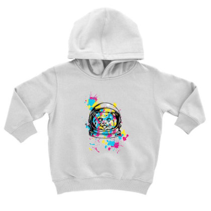 Astronaut Cat Toddler Hoodie Designed By Chiks