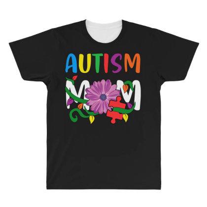 Autism Mom All Over Men's T-shirt Designed By Badaudesign