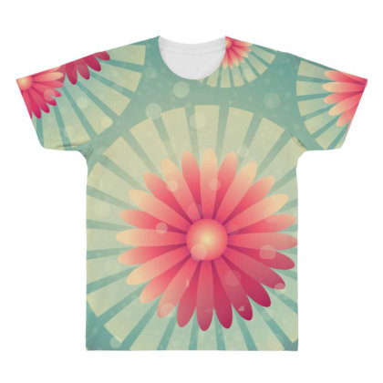 Exclusive Floral Flower Art All Over Men's T-shirt Designed By Chiks