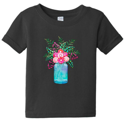 Flower Bouquet Baby Tee Designed By Chiks