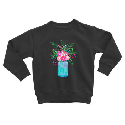 Flower Bouquet Toddler Sweatshirt Designed By Chiks