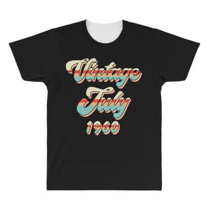 Vintage July 1960 All Over Men's T-shirt Designed By Badaudesign