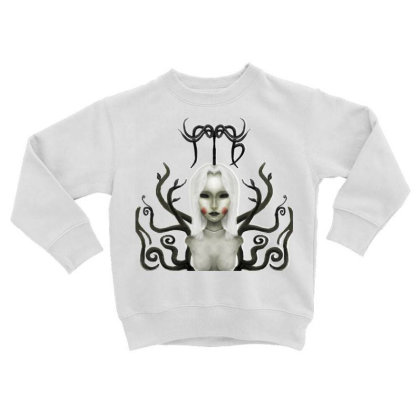 Darkzodiac Series :virgo Toddler Sweatshirt Designed By Knife.vs.face