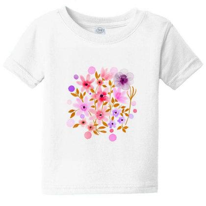 Flower Art Baby Tee Designed By Chiks