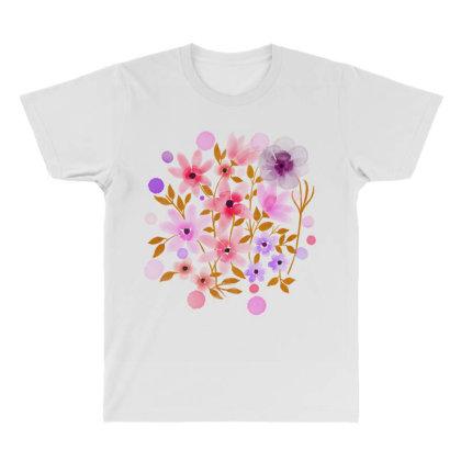 Flower Art All Over Men's T-shirt Designed By Chiks