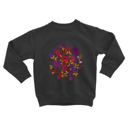 Flower Art Toddler Sweatshirt Designed By Chiks