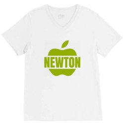 isaac newton V-Neck Tee   Artistshot