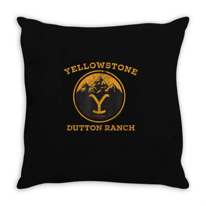 Yellowstone Throw Pillow Designed By Amber Petty