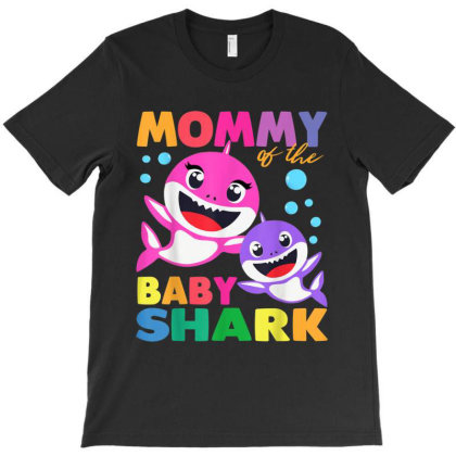 Mommy Of The Baby Shark Birthday Mommy Shark Mother's Day T-shirt Designed By Amber Petty