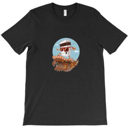 Kawaii Sushi Surf T-shirt Designed By Disgus_thing