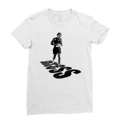 Jogging Ladies Fitted T-shirt Designed By Graphicganga