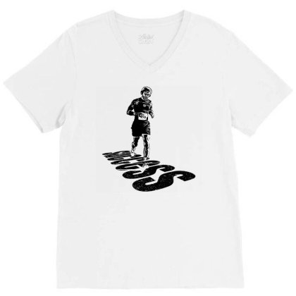 Jogging V-neck Tee Designed By Graphicganga
