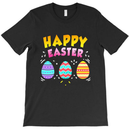 Happy Easter Day Colorful Egg Hunting Cute T-shirt Designed By Cuser3949