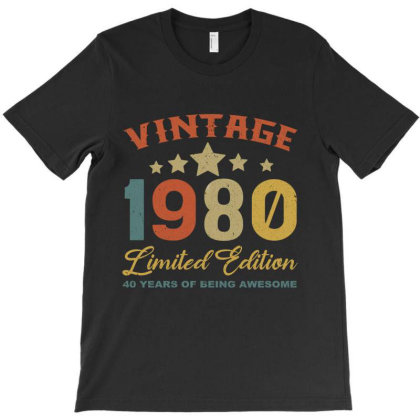 Vintage 1980 Clothes 40 Years Old Retro 40th Birthday T-shirt Designed By Bettercallsaul