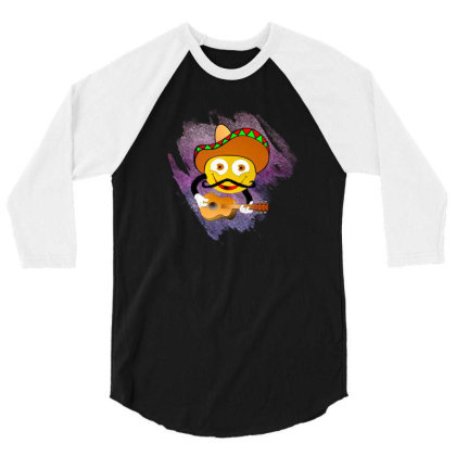 Emoji Music Vector Art 3/4 Sleeve Shirt Designed By Chiks