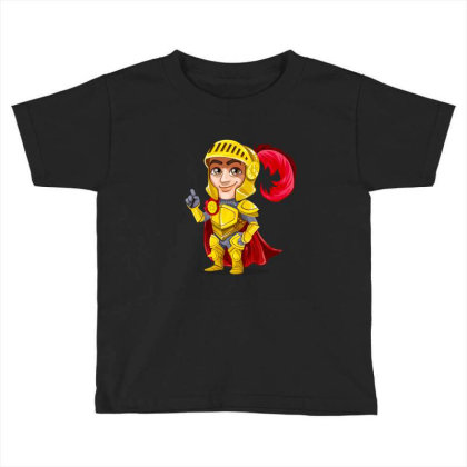 Knight Vector Art Toddler T-shirt Designed By Chiks