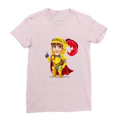Knight Vector Art Ladies Fitted T-shirt Designed By Chiks
