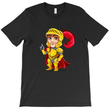 Knight Vector Art T-shirt Designed By Chiks