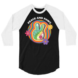 peace and paws 3/4 Sleeve Shirt | Artistshot