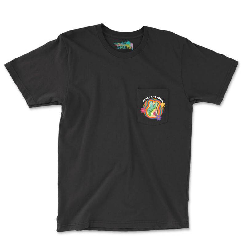 Peace And Paws Pocket T-shirt | Artistshot