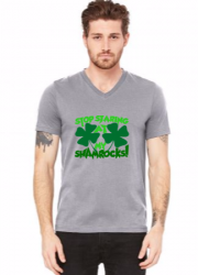 stop staring at my shamrocks V-Neck Tee | Artistshot