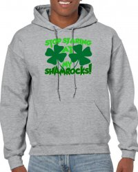 stop staring at my shamrocks Unisex Hoodie | Artistshot
