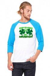 stop staring at my shamrocks 3/4 Sleeve Shirt | Artistshot