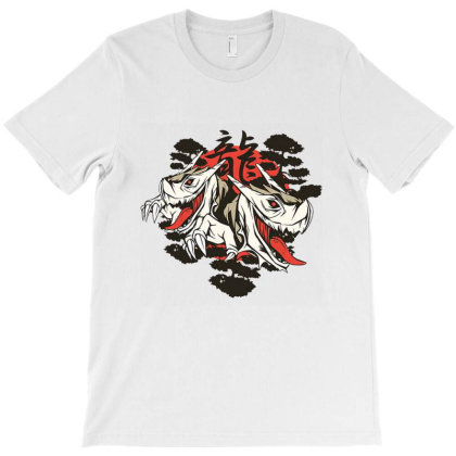 Twin Dragons T-shirt Designed By Cuser3967