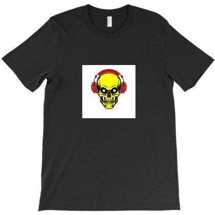 Music Listening Skull 2 T-shirt Designed By Maheshbeniwal