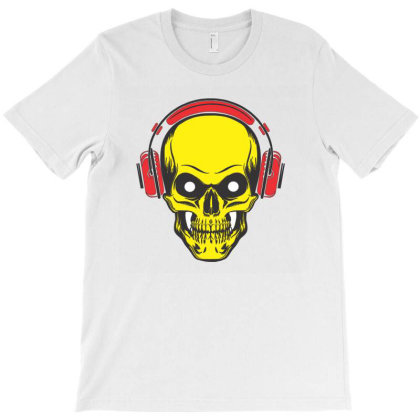 Music Lover Skull, Music Skull, Skull, Music Lover, Dude Skull T-shirt Designed By Maheshbeniwal