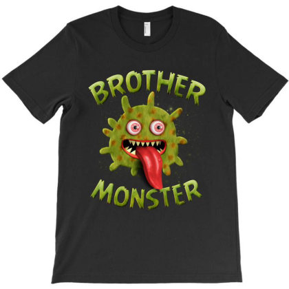 Brother Monster Matching Family Halloween Costumes T-shirt Designed By Love Shiga
