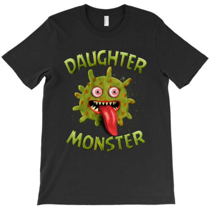Daughter Monster Matching Family Halloween Costumes T-shirt Designed By Love Shiga