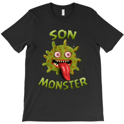 Son Monster Matching Family Halloween Costumes T-shirt Designed By Love Shiga