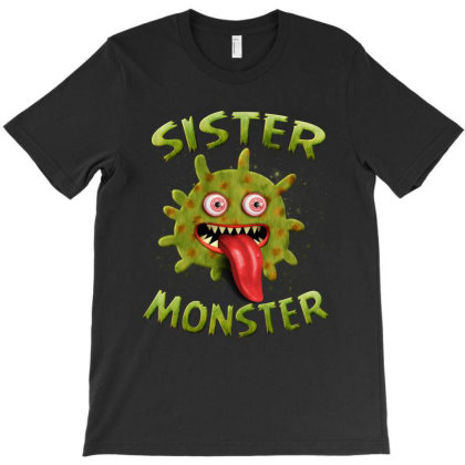 Sister Monster Matching Family Halloween Costumes T-shirt Designed By Love Shiga