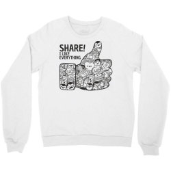 like social media share Crewneck Sweatshirt | Artistshot