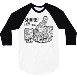 like social media share 3/4 Sleeve Shirt | Artistshot