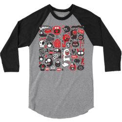 animals sketch design monsters 3/4 Sleeve Shirt   Artistshot