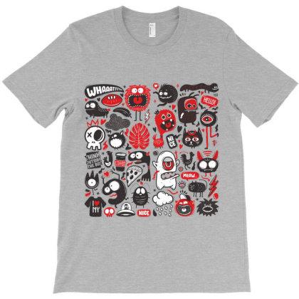 Animals Sketch Design Monsters T-shirt Designed By Designisfun