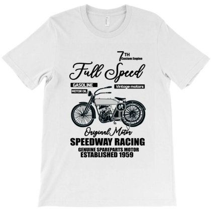 Speedway Racing Full Speed Pin T-shirt Designed By Bettercallsaul