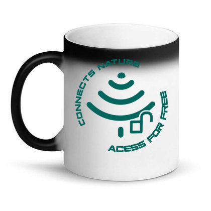 Connecting To Nature Acess For Free Magic Mug Designed By Marconigg