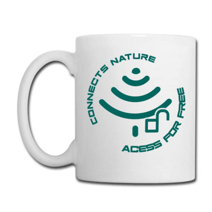 Connecting To Nature Acess For Free Coffee Mug Designed By Marconigg