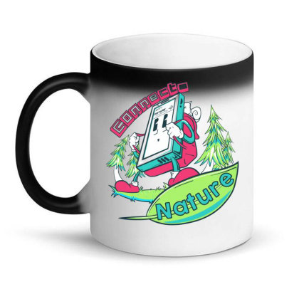 Connecting To Nature Magic Mug Designed By Marconigg