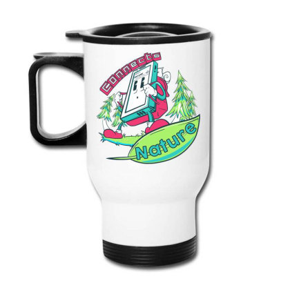 Connecting To Nature Travel Mug Designed By Marconigg