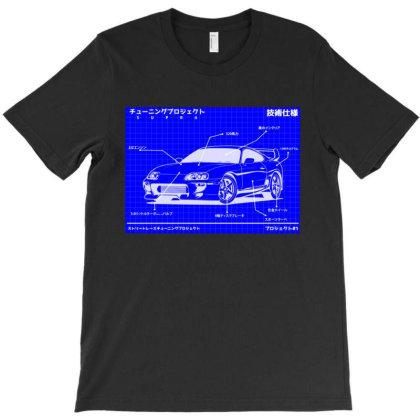 Supra Blueprint Style T-shirt Designed By Jacqueline Tees