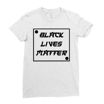 Black Lives Matter Ladies Fitted T-shirt Designed By Bram