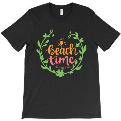 Beach Time T-shirt Designed By Zita Art