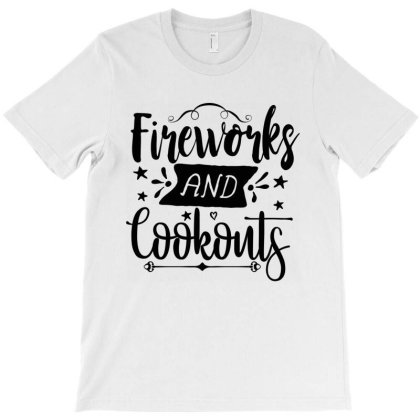 Fireworks And Cookouts T-shirt Designed By Zita Art